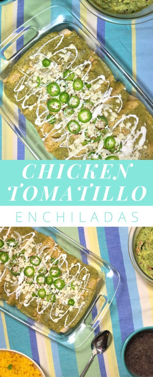 It seems like enchiladas would be a pain to make because of all the components, but the beauty of this recipe is that the chicken and sauce are a breeze. You can use them to make tacos or even eat the sauce right over chicken and rice. www.whipsmartkitchen.com #enchiladas #enchiladasverdes #tomatillo #dinnerrecipesforfamilies