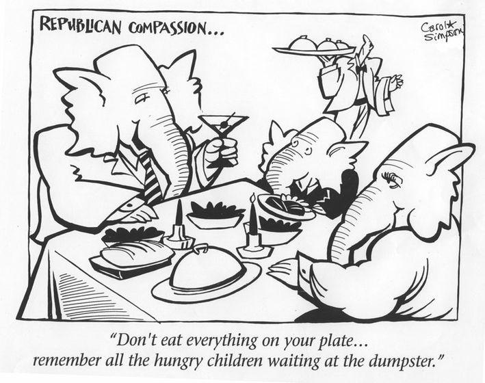Republican CompassionSimpsons Cartoonwork, Carol Simpsons, Republican Compass