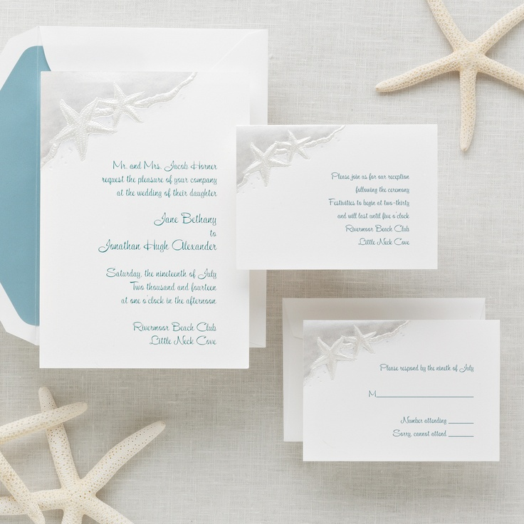 Exclusively Weddings Starfish Wedding Invitation Is A Beach Two Ride The Edge Of Wave On This Serene