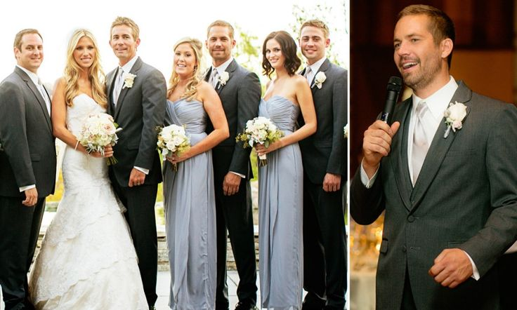 Celebration: Just weeks before his death, The Fast and The Furious star Paul Walker was the best man at his brother Caleb's wedding in California (October 2013)