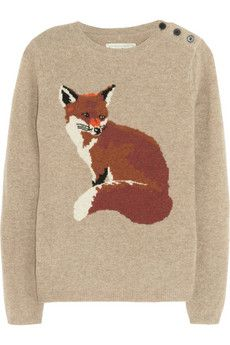 Portland fox-intarsia wool sweater: Wool Sweaters, Portland Foxes Intarsia, Foxy Sweaters, Aubin Will, Foxintarsia Wool, Foxes Sweaters, Foxy Loxi, Foxes Intarsia Wool, Foxy Lady
