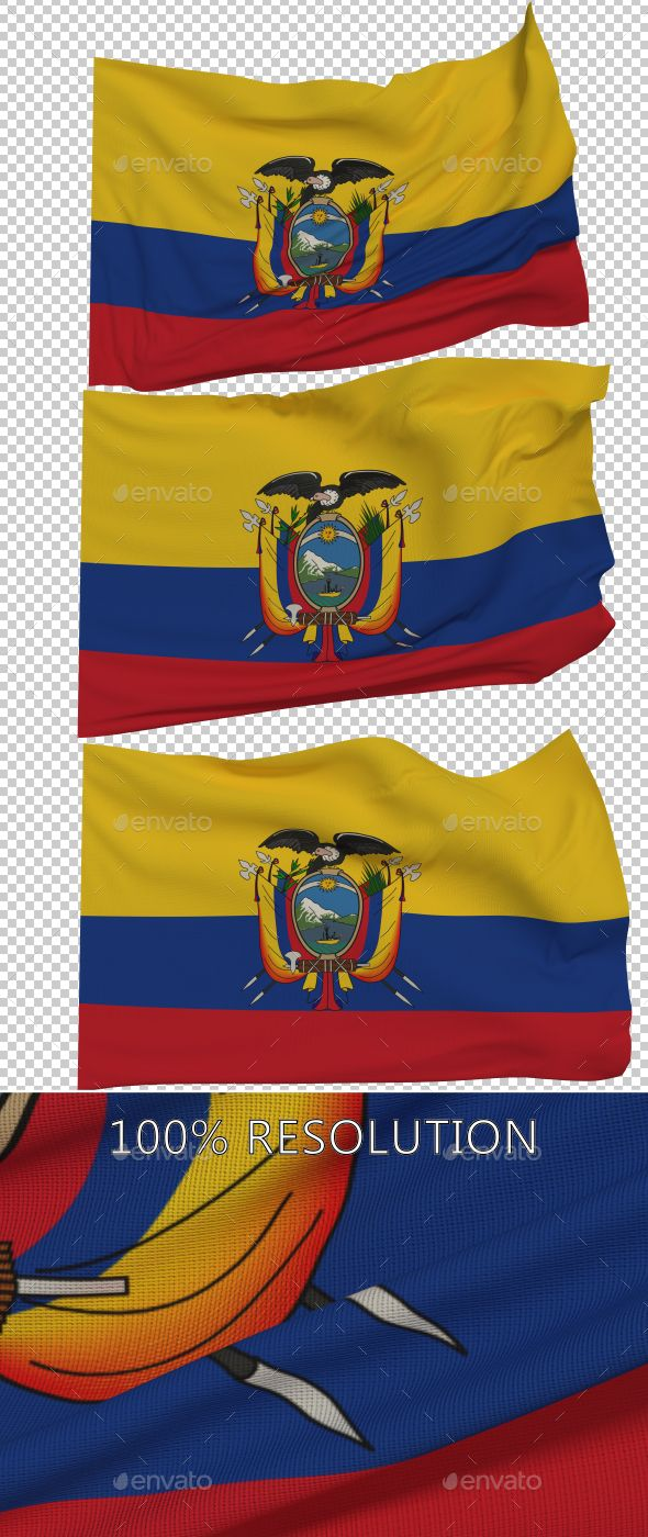 Flag of Ecuador - 3 Variants