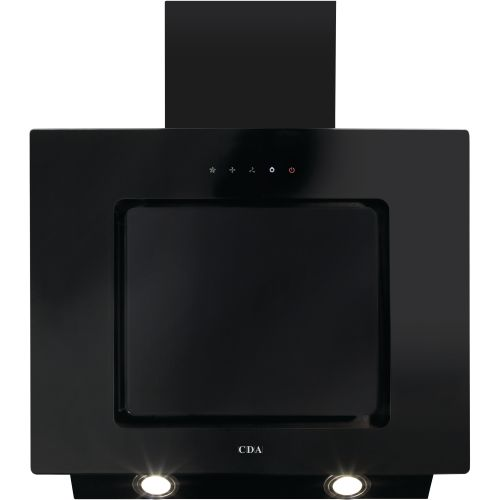 CDA EVA60BL 60cm Touch Control Angled Cooker Hood Black