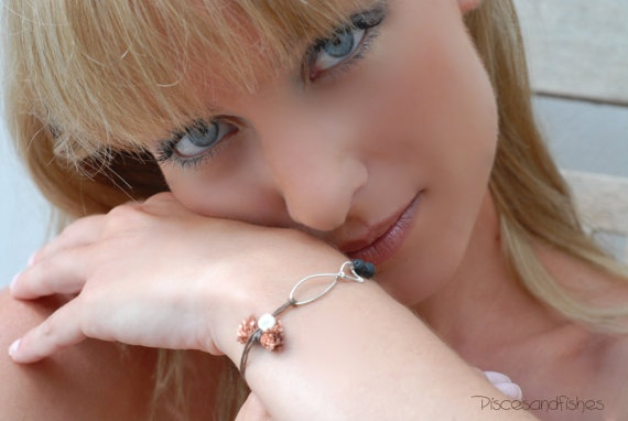 Silver Fish Lucky Bracelet by PiscesAndFishes on Etsy,