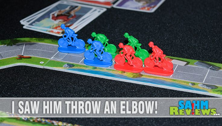 It's a racing game, but one that is foot-powered. We love watching the Tour de France on TV, now we can play it as a board game. We check out Flamme Rouge!