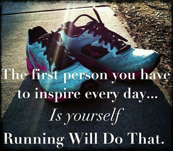 It really will, but I'm not one of those runners who loved running. I did it just so I could eat what I wanted. It was a necessary evil and hard for me to pick back up now.