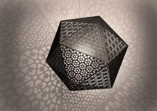 Rontonton, design Edward van Vliet, dining - or living - interesting pattern on wall reflections
