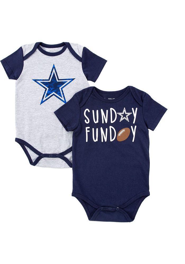 Dallas Cowboys Baby Navy Blue Vito One Piece - Image 1 8fdec8fdd