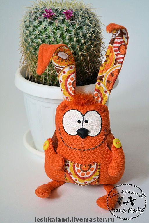 Купить Апельсиновый сумчатый - прикольный подарок, прикол, рыжий, апельсиновый, заяц, маленький, смешной, прикольный