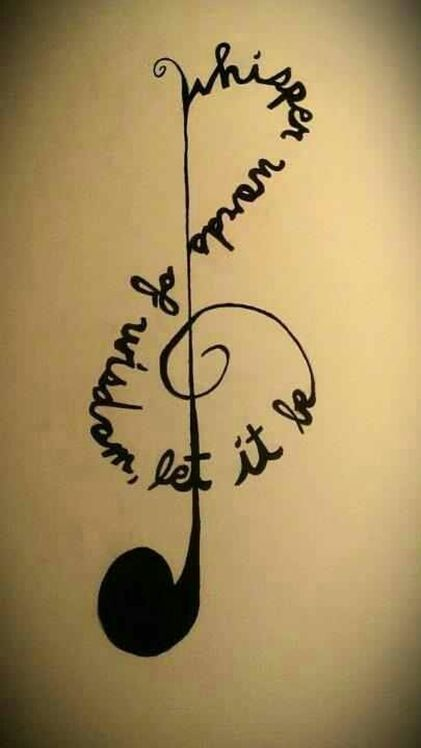 Whisper words of wisdom let it be music note for Eve