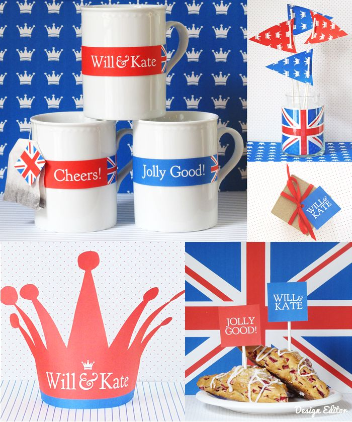 ~ the Royal wedding is over but I like these banners and flags ~ Ev's birthday ~