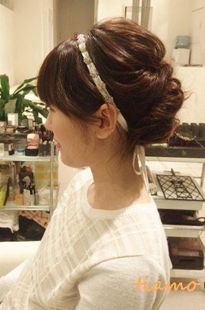 柔らかい雰囲気が可愛い3スタイル♡リハ編 |大人可愛いブライダルヘアメイク『tiamo』の結婚カタログ