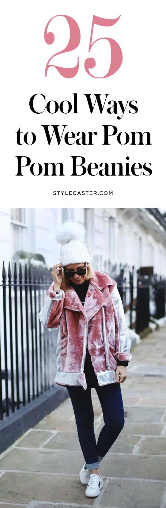 25 cool ways to wear pom pom beanies | @stylecaster | StyleCaster