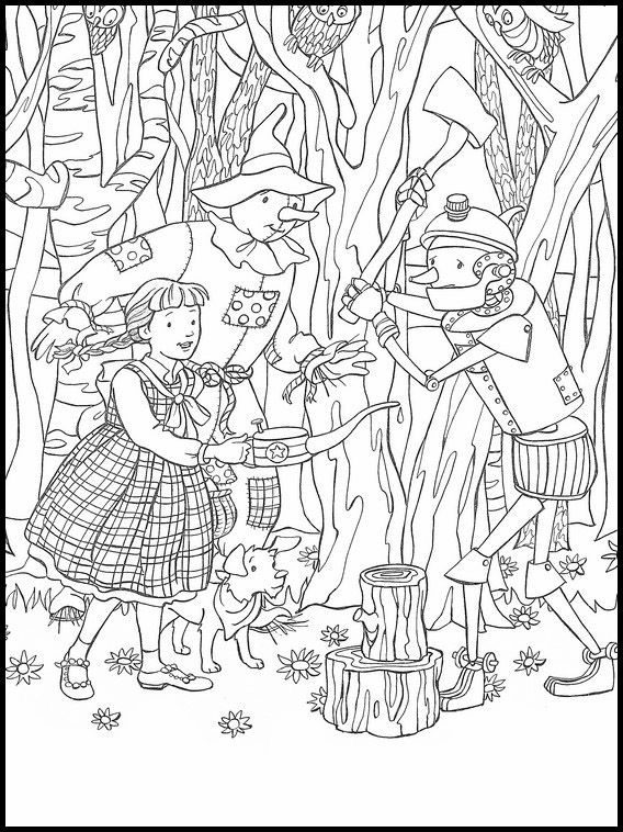 The Wizard Of Oz Printable Coloring Book 28 Cool Coloring Pages Coloring Books Printable Coloring Book