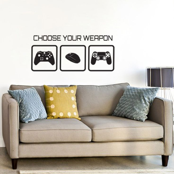 Our Choose Your Weapon Video Game Decal Features Three Iconic Games  Controllers And Words Game Over