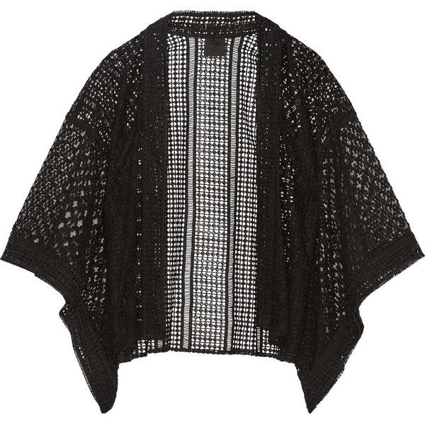 Anna Sui Embroidered tulle and broderie anglaise kimono jacket (3 555 SEK) ❤ liked on Polyvore featuring outerwear, jackets, black, anna sui kimono, kimono jacket, anna sui, sheer jacket and anna sui jacket