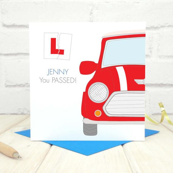 Driving Test Card - Passed Driving Test - Personalised Driving Test Card - Congratulations on Passing Your Test Card - New Driver Card - Etsy - LetsDreambyChiChiMoi