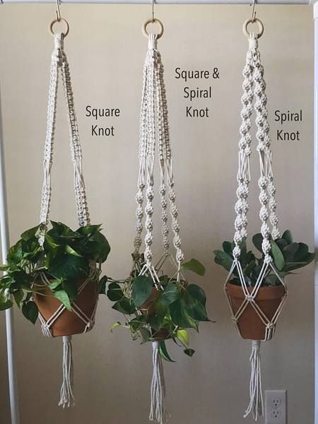 Macrame Plant Hanger Square Knot Diy Macrame Plant