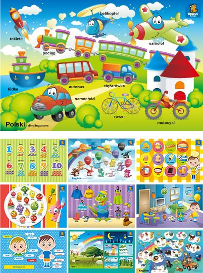Polish Premium Sets for children - Learn Polish flashcards, books, DVDs for…