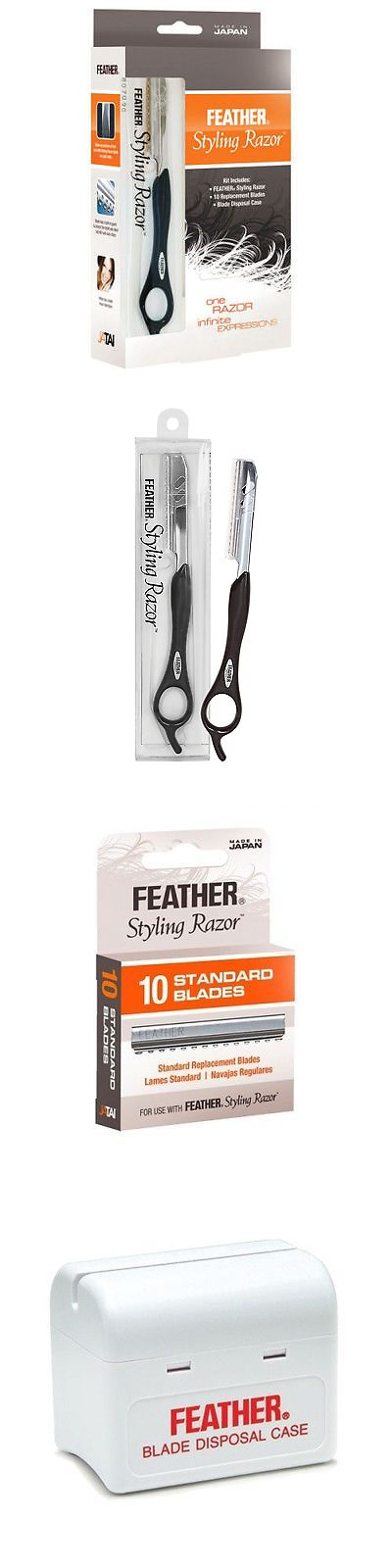 Straight Razors: Jatai Feather Styling Razor Intro Kit Blades Black Haircut Hair Styling Case -> BUY IT NOW ONLY: $34.99 on eBay!