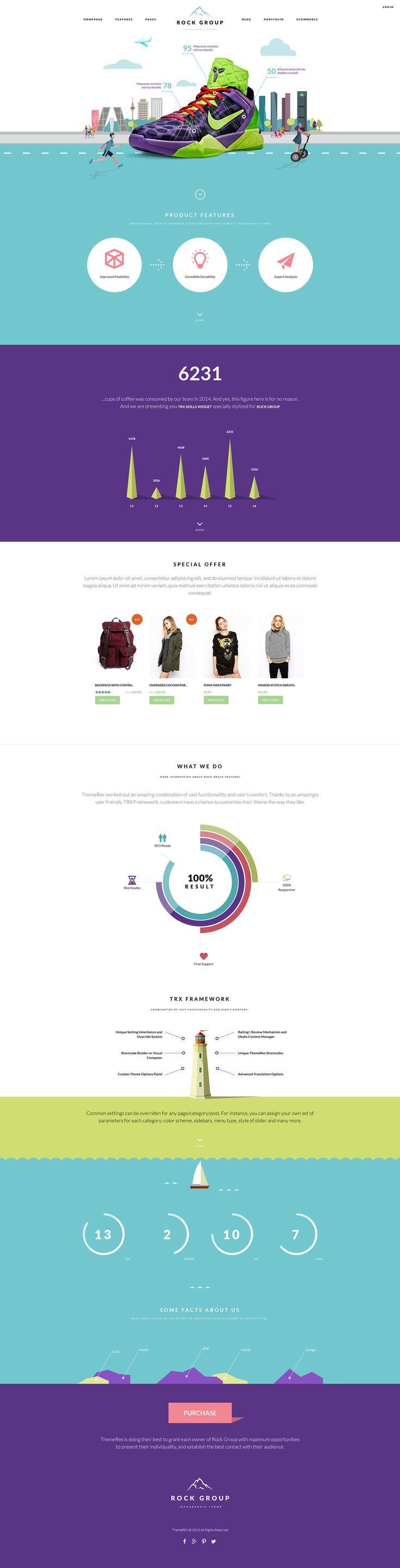 Rock Group | Multipurpose Infographic Theme on Behance