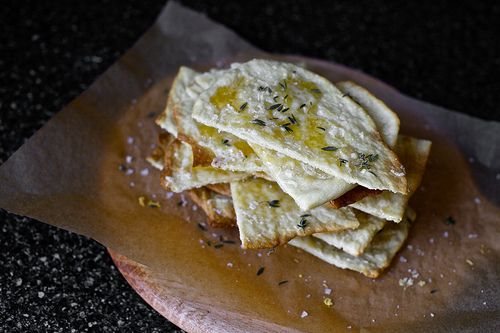 mahon flatbread with thyme, honey and sea salt