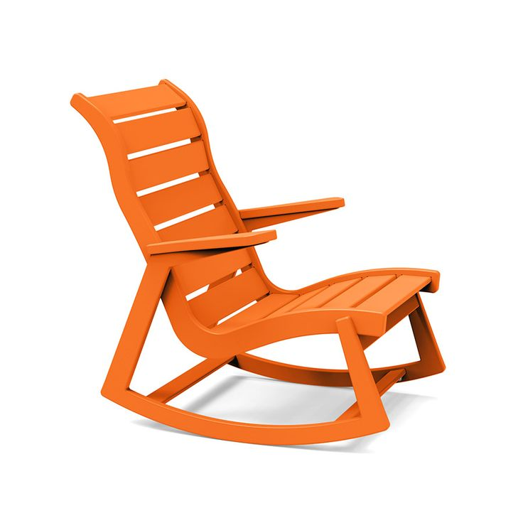 Made In The U.S.A. By Loll Designs, This Modern Outdoor Rocking Chair  Honors Mid