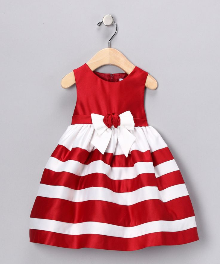 Think of your triplet girls wearing these matching dresses to a Christmas party. ❤