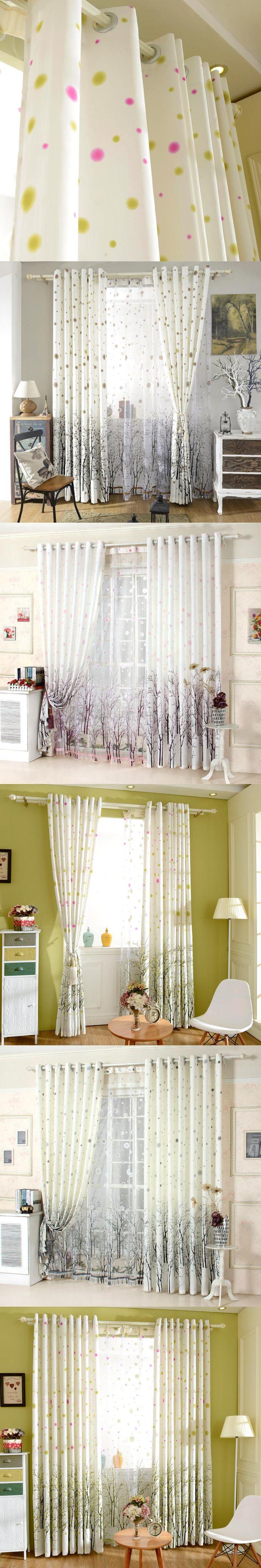 1piece readymade rural garden curtains lauxuerun windows cortinas