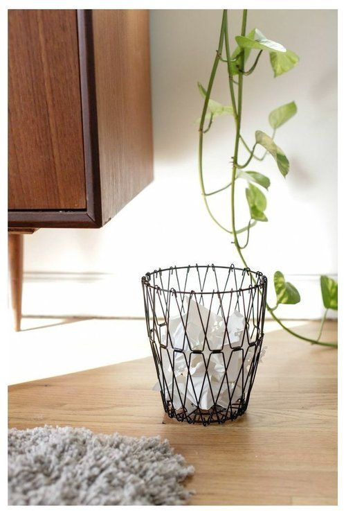 Marelight Folding Wire Basket Fruit Basket or Trash Bin for home Office or Kitchen Sturdy Stainless Steel