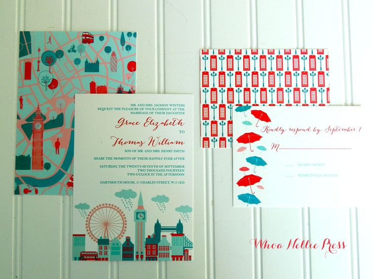 London Wedding Collection #London #invitations #wedding #phonebooth #skyline https://www.etsy.com/shop/WhoaNelliePress