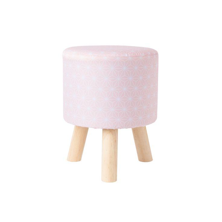 Tabouret rose bonbon #pouf #rose #pink #stars #pastel #myhome #tatihome #tatideco #deco #madeco #madecoamoi #homedecor #decoration #decorationideas #homesweethome #cocooning #inspirationdeco #tati