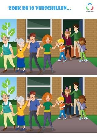 Ambrasoft - Knutselplaat voor kinderen van Tom en Tamira - zoek de 10 verschillen - familiebezoek