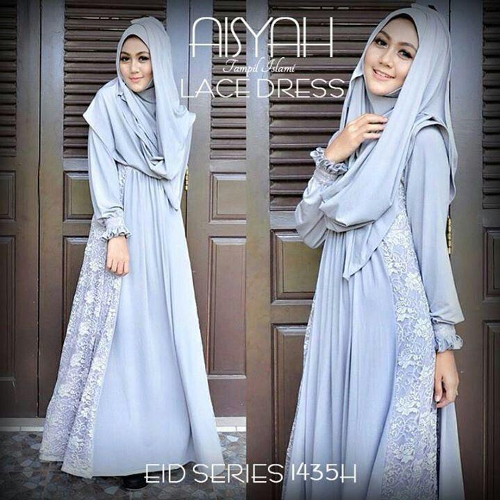 Aisyah lace abaya