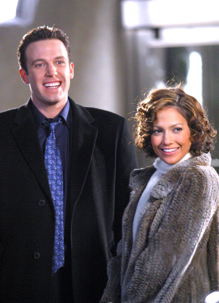 Pin for Later: These Photos of Jennifer Lopez and Ben Affleck Will Take You Way Back  The two were all smiles on the set of their film Jersey Girl in November 2002.