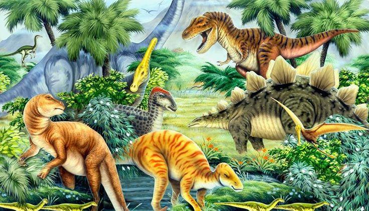 Dinosaur valley wall mural painting ideas pinterest for Dinosaur mural wallpaper