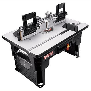 Craftsman -Router Table w/Folding Legs and Large 26 x16-1/2 in. Laminated MDF Work Surface