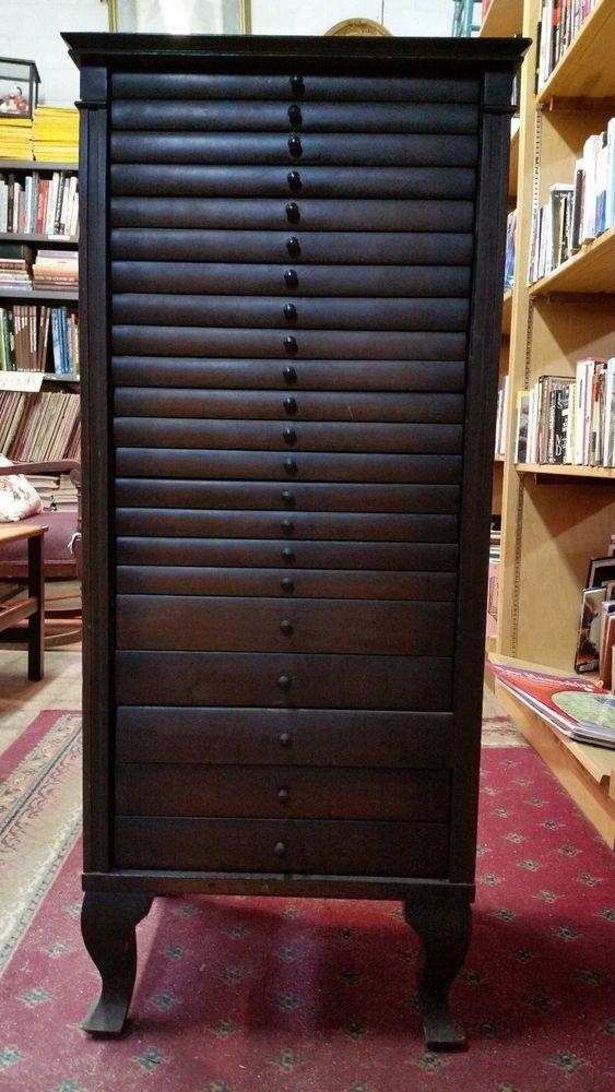 Vintage Mahogany Sheet Music Cabinet