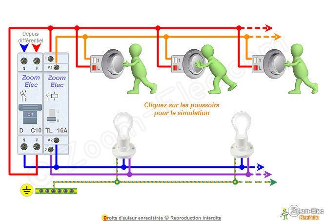 Schéma de principe telerupteur bilal Pinterest - Logiciel Pour Dessiner Plan Maison Gratuit