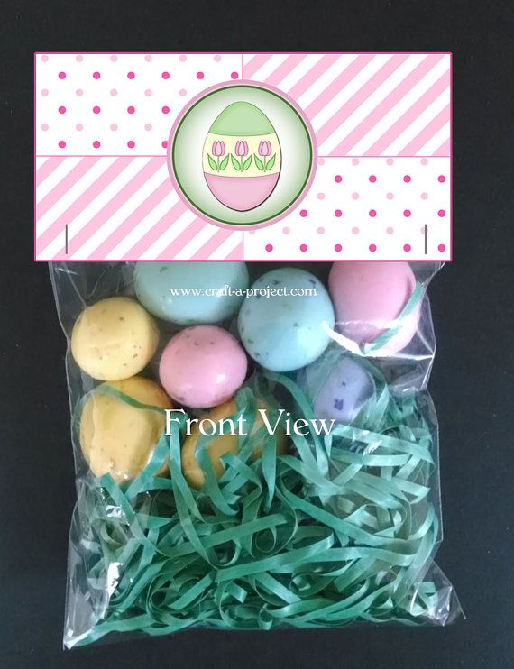 Easter Bag Toppers  Easter Favors  Party by CraftAProject on Etsy