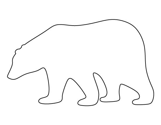 Polar Bear pattern. Use the printable pattern for crafts, creating stencils, scrapbooking, and more. Free PDF template to download and print at http://patternuniverse.com/download/polar-bear-pattern/