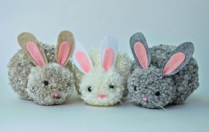 Wool rabbits for Easter