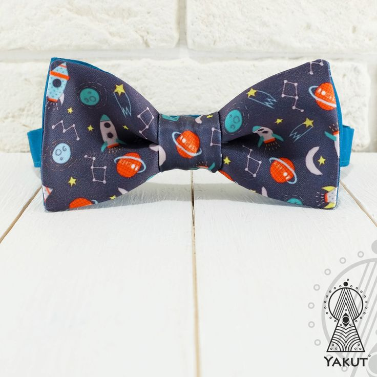 Bow Tie Space trip, Bowtie, Creative bow tie, Men's bowties, Boy's bowtie, Funny bow tie, Space, Planets and rockets, Designer accessories by BowTieYAKUT on Etsy https://www.etsy.com/listing/399670633/bow-tie-space-trip-bowtie-creative-bow