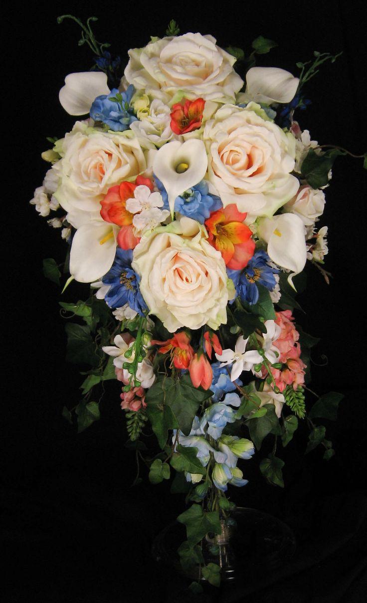 Silk Flower Cascade Bouquet Images - Flower Wallpaper HD