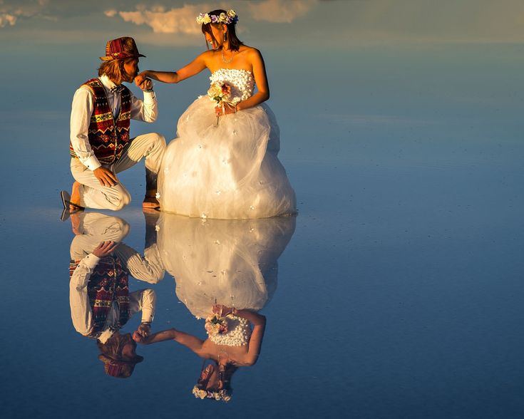Fotografia Wedding reflections in El Salar de Uyuni at sunset de Ignacio Palacios na 500px