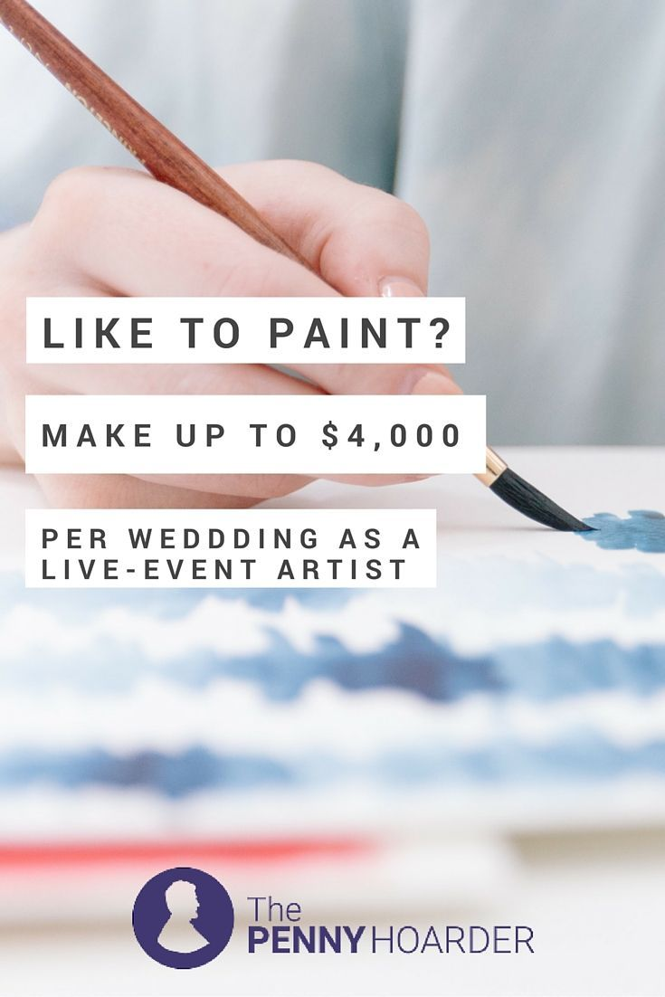 Looking for fun and lucrative art jobs? Become a live-event artist: capturing scenes at weddings and other celebrations as they happen. Here's how to make money live painting. - The Penny Hoarder http://www.thepennyhoarder.com/live-event-artist/