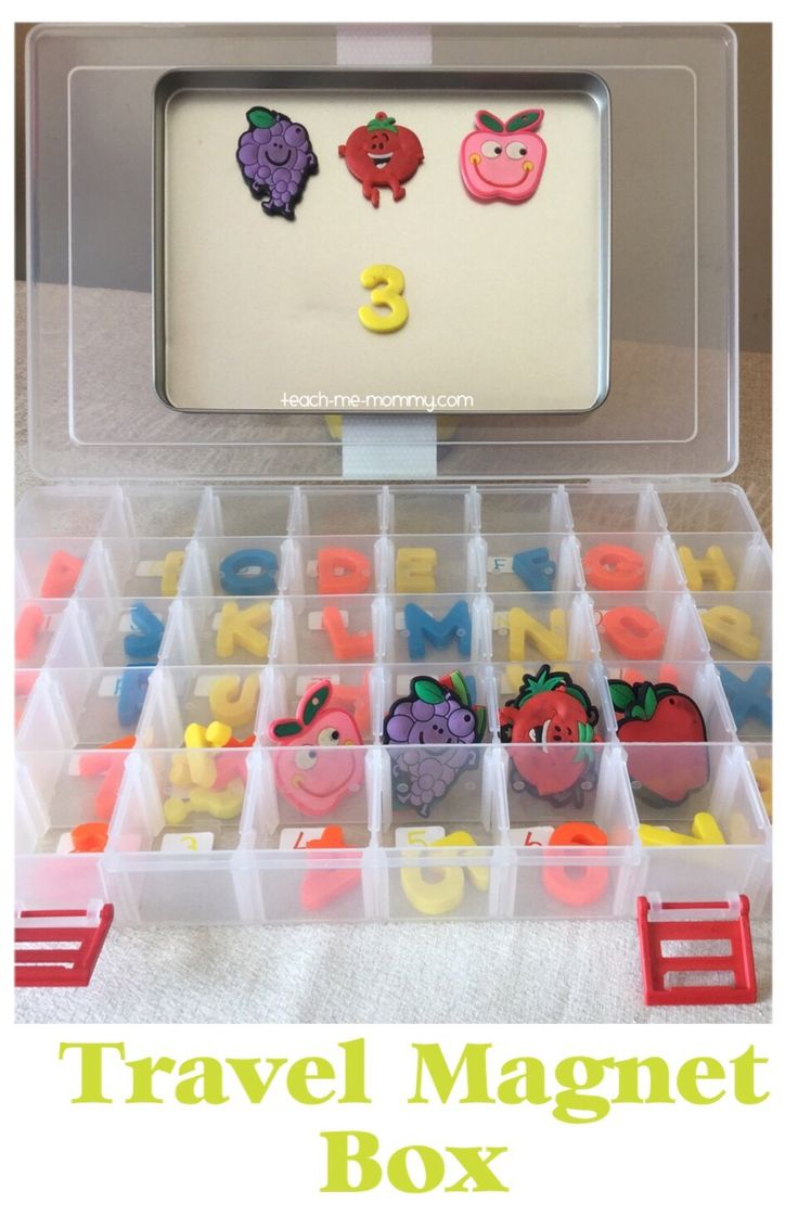 Travel Magnet Box, clever way to make magnet play travel-friendly!