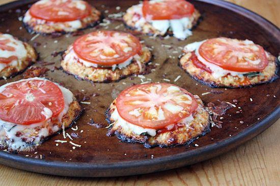 Mini Cauliflower Pizza Crusts for a healthier alternative to pizza....which i love