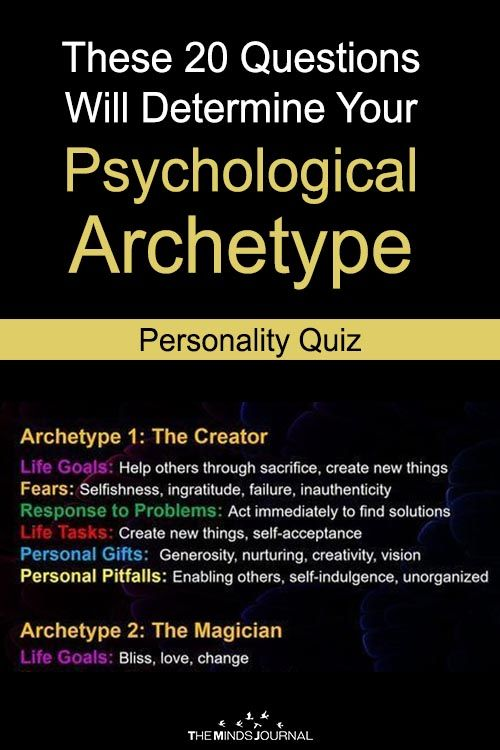 These 20 Questions Will Determine Your Psychological Archetype