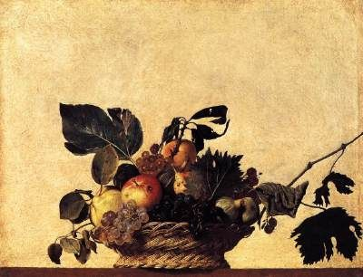 Caravaggio - Basket of Fruit, oil on canvas (c. 1597)